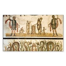 Pig sacrifice, Roman fresco Decal