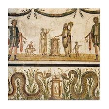 Pig sacrifice, Roman fresco Tile Coaster