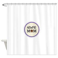 Newfie Dog Mom Shower Curtain