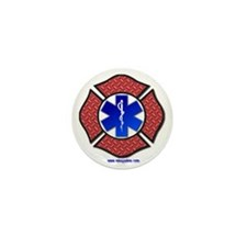 Steel Plate Maltese Cross and Star of  Mini Button