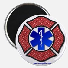 Steel Plate Maltese Cross and Star of Life Magnet