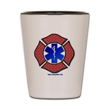 Steel Plate Maltese Cross and Star of L Shot Glass