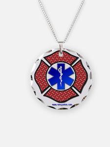 Steel Plate Maltese Cross an Necklace