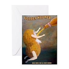 Golden Shower-BlackSHirts Greeting Card