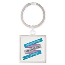 I Know Who I Am Square Keychain