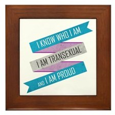 I Know Who I Am Framed Tile
