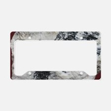 Petzite crystals License Plate Holder