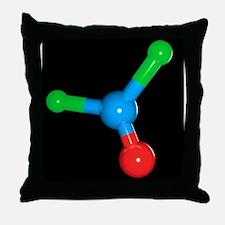 Phosgene molecule Throw Pillow