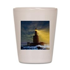 Pharos lighthouse of Alexandria, artwor Shot Glass