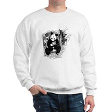Giant panda female and cub Sweatshirt