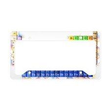 Periodic table License Plate Holder