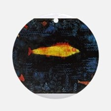 Paul Klee Goldfish Round Ornament