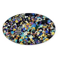 Peridotite rock, light micrograph Decal