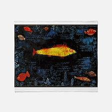 Paul Klee Goldfish Throw Blanket