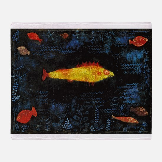 Paul Klee Goldfish Throw Blanket