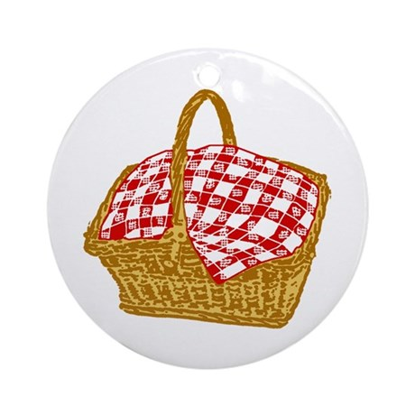 Picnic Basket Ornament (Round)