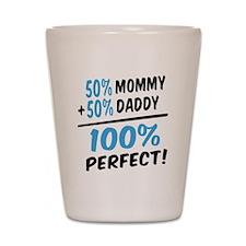 100 percent perfect baby boy Shot Glass