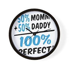 100 percent perfect baby boy Wall Clock