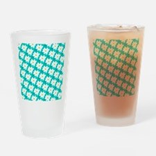Cool Green Floral Repetition Drinking Glass