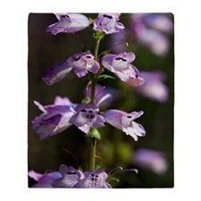 Penstemon 'Strictus' Throw Blanket