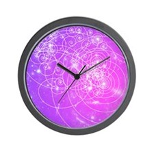 Particle tracks on galaxies Wall Clock
