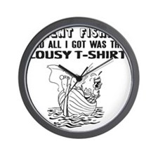 I Went Fishing Wall Clock