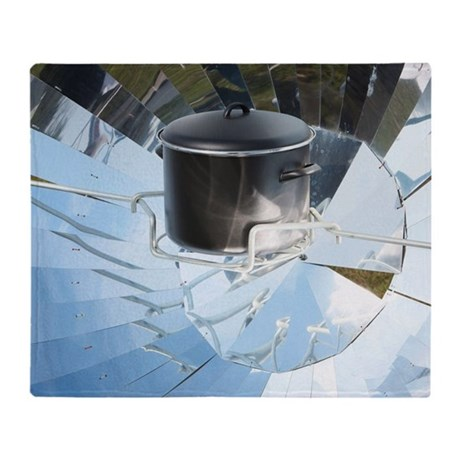 Parabolic solar cooker Throw Blanket