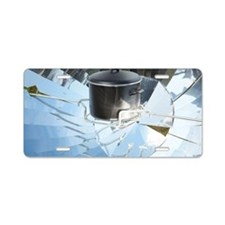 Parabolic solar cooker Aluminum License Plate