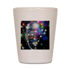 Particle tracks and head Shot Glass