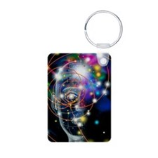 Particle tracks and head Keychains