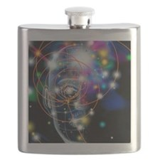 Particle tracks and head Flask