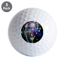 Particle tracks and head Golf Ball