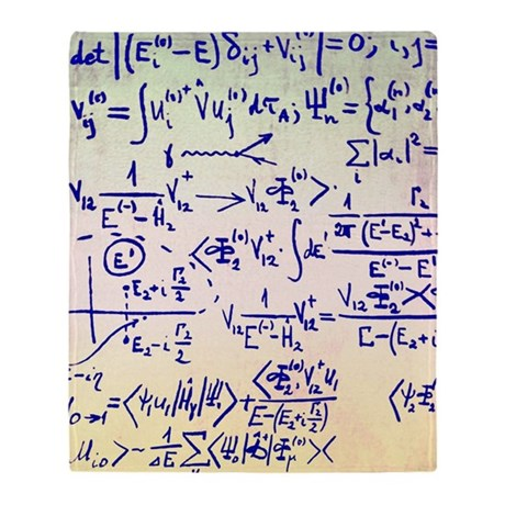 Particle physics equations Throw Blanket