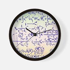 Particle physics equations Wall Clock