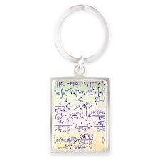 Particle physics equations Portrait Keychain