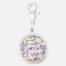 Particle physics equations Silver Round Charm