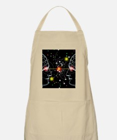 Particle tracks and two heads Apron