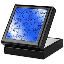 Particle physics equations Keepsake Box