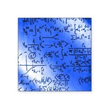 """Particle physics equations Square Sticker 3"""" x 3"""""""