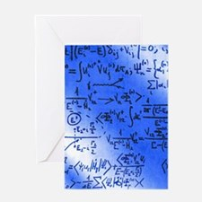 Particle physics equations Greeting Card