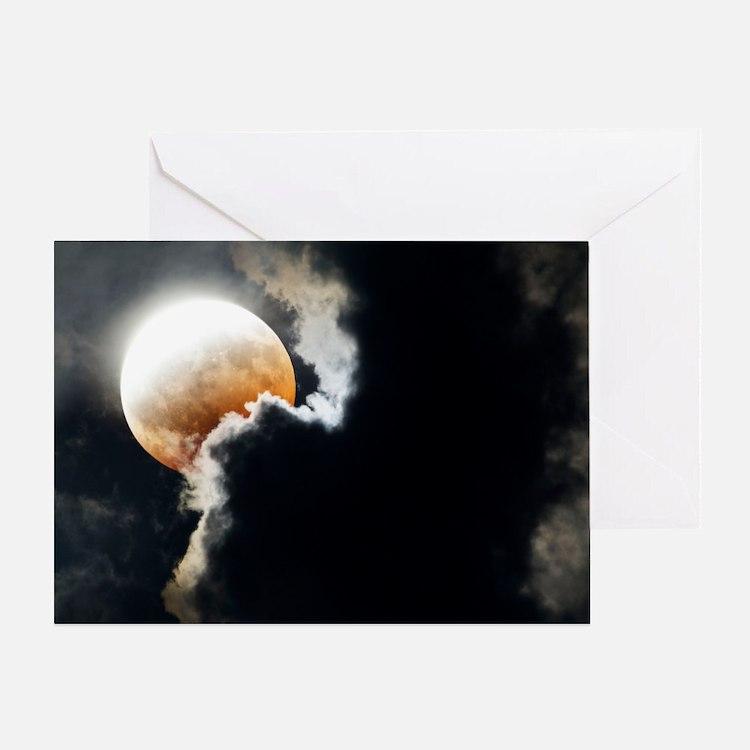 Partial lunar eclipse Greeting Card
