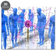 Parkinson's disease, conceptual artwork Puzzle