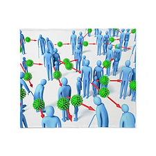 Pandemic virus, artwork Throw Blanket
