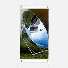 Parabolic solar cooker Banner