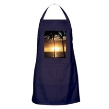 Palm trees on a beach at sunset Apron (dark)
