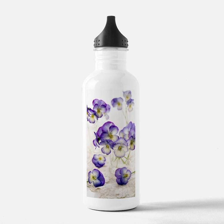 Pansies (Viola sp.) Sports Water Bottle