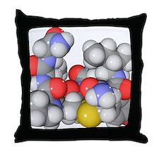 Oxytocin neurotransmitter molecule Throw Pillow