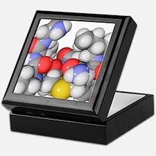 Oxytocin neurotransmitter molecule Keepsake Box