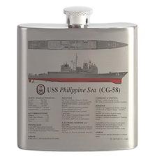 USS Philippine Sea CG-58 Flask