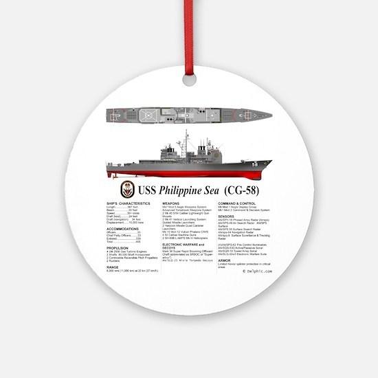USS Philippine Sea CG-58 Round Ornament